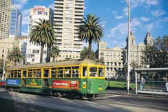 A tram ride in Melbourne is part of the Australian virtual holiday